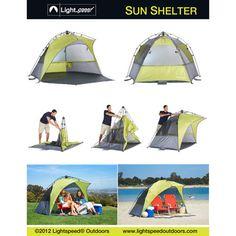 Lightspeed Outdoors® Green/Gray Sun Shelter