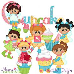 Cupcake Fairies SVG Cutting Files + Clipart