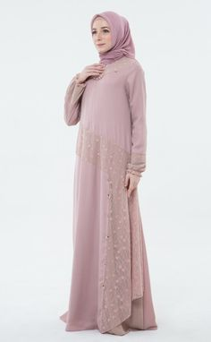 Cactus Flower, Muslim, Ootd, Women's Fashion, Lace, Casual, Model, Dresses, Vestidos