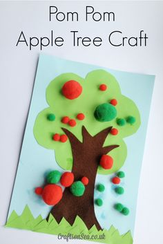This cute apple tree craft is a great way to support fine motor skills for toddlers and preschoolers and a fun fall craft to welcome in the new season.