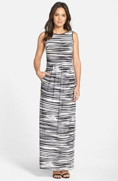 Marc New York by Andrew Marc Stripe Strappy Back Maxi Dress available at #Nordstrom