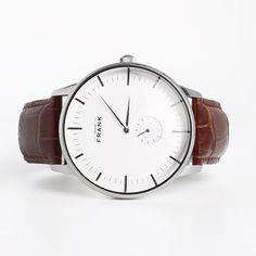 Aberdeen White Leather Watch - Grand Frank