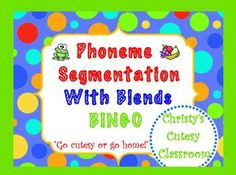 This class set of 25 bingo cards feature pictures of words that contain blends.  To play, the teacher uses the call list to segment the words while students carefully listen and cover the appropriate pictures on their cards.  Perfect for small and whole group use.