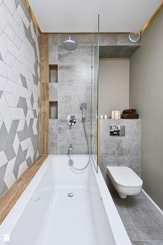 КВАРТИРА ПОКАЗАТЕЛЬНЫЕ НА OŁTASZYNIE - Маленькая ванная комната, скандинавский стиль - фото от Partner Design