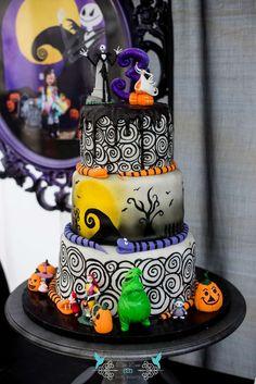 Jack skellington Halloween cake Birthday Ideas Pinterest