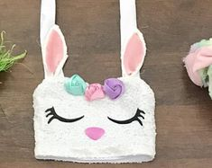 Easter Crop top Baby girls bunny sequin top spring
