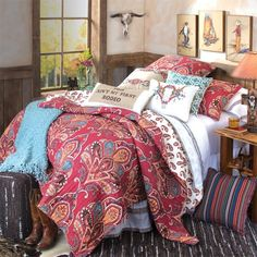 Ain't My First Rodeo Quilted Bedding-update your bedroom for Fall with this beautiful and warm western bedding collection!