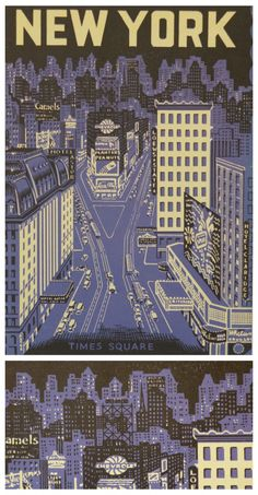 Vintage New York City Times Square Poster