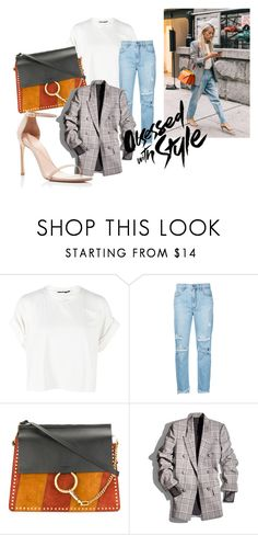 """""""obsessed with style"""" by itgirl91 on Polyvore featuring Boohoo, Nobody Denim, Chloé, Alexander Wang e Stuart Weitzman"""