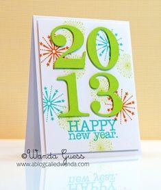 Happy 2013, handmade card