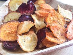 Groente chips uit de oven met kokosolie