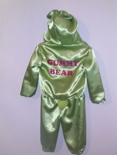 GUMMY BEAR COSTUME oouterwear or pajama by HandmadebyCatira, $49.99