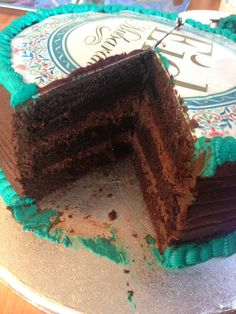 Chocolate cake with chocolate ganache filling