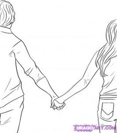 Holding Hands Drawing on Pinterest | Drawings Of Couples, Drawings