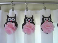 Baby Owls shower curtain for a little girl's bathroom!!! I am currently obsessed with owls!