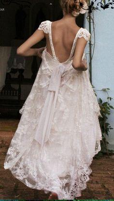 bohemian wedding dress by sosweetone