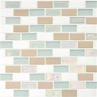 """Daltile Coastal Keystone Brick-Joint Mosaic 12"""" x 12"""" : Tradewind Blend CK86 21BJPM1P"""