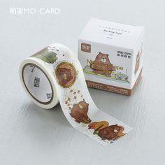 1pc 3cm Width Bear Cartoon Decorative Washi Tape DIY Scrapbooking Masking Tape School Office Supply Escolar Papelaria 7meters