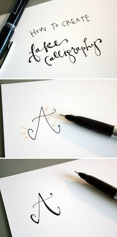 How to create fake calligraphy | Jones Design Company - To add an extra flourish to your journal