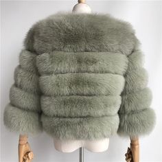 Luxurious 100% Genuine Thick Fox Fur Jacket Fox Fur Jacket, Fur Coat, Female, Luxury, Casual, Cute, Model, Jackets, Lifestyle