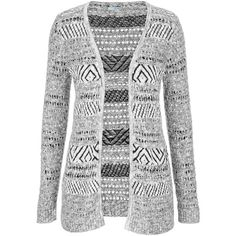maurices Open Stitch Cardigan With Stripes ($34) ❤ liked on Polyvore featuring tops, cardigans, outerwear, grey, gray open front cardigan, grey striped cardigan, striped top, open front knit cardigan and stripe cardigan