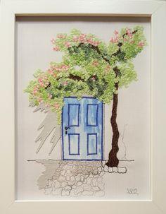 """""""Blaue Tür"""", 15 x 20 cm"""