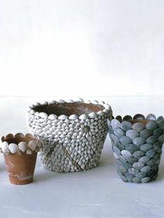 decorating pots with Martha Stewart