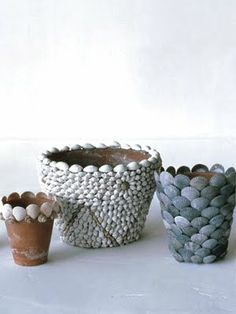 Decorating Pots with Shells