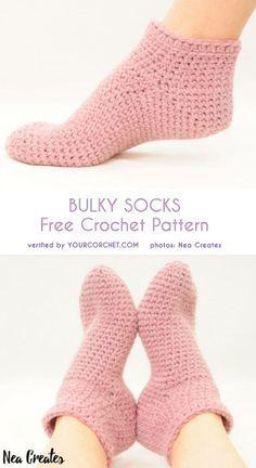 Ideas Knitting Socks Free Pattern Crochet Slipper Boots For 2019 Crochet Mittens Free Pattern, Crochet Slipper Pattern, Knitting Patterns, Crochet Patterns, Knitting Ideas, Hat Patterns, Pattern Ideas, Knitting Projects, Crochet Ideas