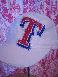 Texas Rangers Hat https://www.etsy.com/shop/PettiLittleFrills