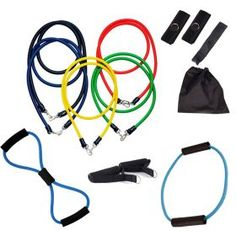 Sports & Fitness :: Fitness Accessories :: 13PCS Heavy Resistance Band Yoga Tension Rope Fitness Stretch Door Loop Gym Abs