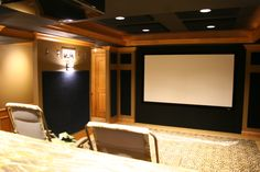 Custom home theater by DH Custom Homes