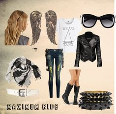 """""""Maximum Ride"""" by mgpapaya ❤ Nerd Fashion, Fandom Fashion, Maximum Ride, Fandom Outfits, Casual Cosplay, Character Outfits, Cool Outfits, My Style, How To Wear"""