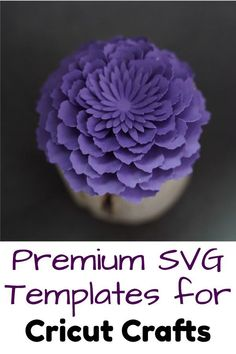 Easy Cricut paper flower SVG patterns for cardstock paper flowers, great for DIY home decor and other craft projects Flower Svg, Flower Template, Paper Flowers Diy, Diy Paper, How To Make Diy, How To Make Money, Cutting Files, Card Stock, Diy Home Decor