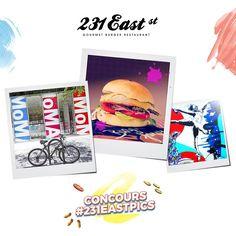 Notre Grand Concours Photos #231EastPics est ouvert ! Au menu : le beau ! Pour participer : suivez-nous et postez vos photos du beau dans l'esprit de 231 East Street sur votre compte Instagram, en taguant notre compte @231eaststreet avec le Hashtag #231EastPics !  A gagner : 1 voyage à New-York pour 2 sur les traces d'Andy Warhol d'une valeur de 3500€ !  Jeu ouvert du 22 juin au 13 juillet 2016 !  Plus d'informations sur http://lartduburger.com/jouer