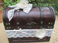 Card Wedding Postbox Wooden Chest Vintage Style Wedding Card Gift Holder