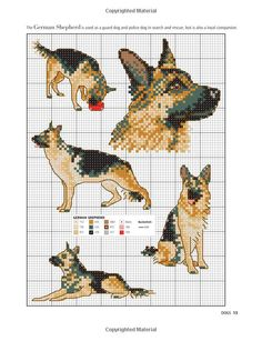 Dog cross stitch patterns, cross stitch design ideas for dogs