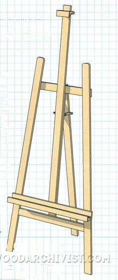Artist Easel - Woodworking Plans and Projects | WoodArchivist.com