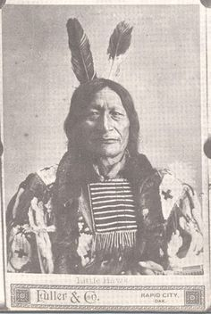 Little Hawk (the son of Makes The Song and Good Haired Otter Woman) - Oglala - circa 1880