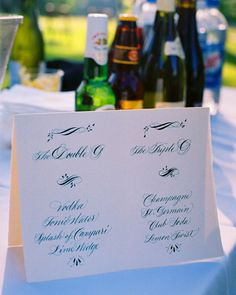 My calligraphy from Ginger and Greg's wedding in Charlottesville, as featured in Martha Stewart Weddings!