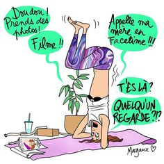 Quand tu réussis une nouvelle posture de yoga. #PrevenirToutLunivers #joie #illustration #margauxmotin
