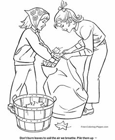 Cleaneup In The Fall Coloring For Kids - Autumn Or Fall Coloring Pages : KidsDrawing – Free Coloring Pages Online Fall Leaves Coloring Pages, Horse Coloring Pages, Free Adult Coloring Pages, Bible Coloring Pages, Leaf Coloring, Coloring Pages For Kids, Coloring Sheets, Coloring Books, Kids Coloring