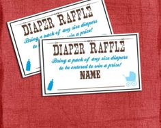 Western Baby Shower   Diaper Raffle  Baby by M2MPartyDesigns