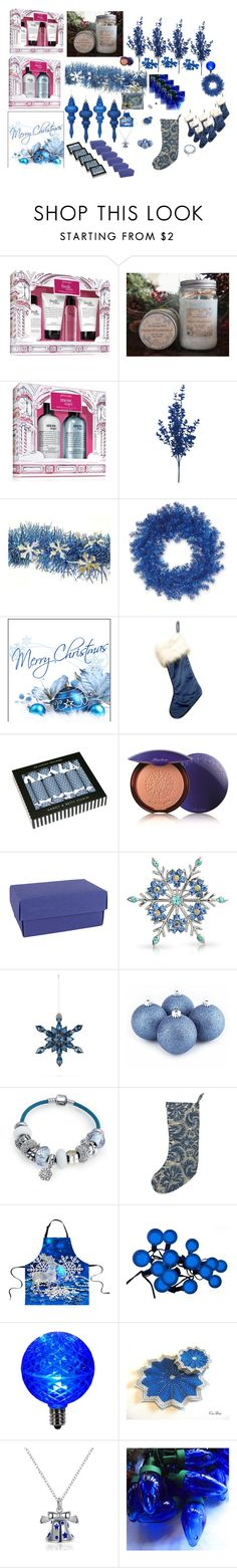 """Christmas 2016 winter"" by airandearth on Polyvore featuring interior, interiors, interior design, home, home decor, interior decorating, philosophy, National Tree Company, Nancy & Betty Studio and Guerlain"