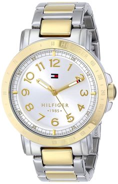 Shop a great selection of Tommy Hilfiger Women's 1781398 Two-Tone Stainless Steel Watch. Find new offer and Similar products for Tommy Hilfiger Women's 1781398 Two-Tone Stainless Steel Watch. Trendy Mens Watches, Casual Watches, Watches For Men, Men's Watches, Woman Watches, Elegant Watches, Wrist Watches, Stainless Steel Watch, Stainless Steel Bracelet