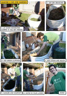 How to make a no dig garden.
