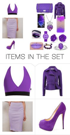 """""""Purple-Ey Ness"""" by lover-r5 on Polyvore featuring art"""