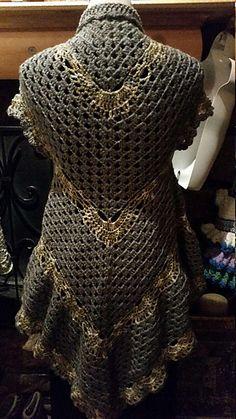 Ravelry: Peek-A-Boo Cardigan pattern by Paula Marie Crochet Vest Pattern, Crochet Shirt, Crochet Jacket, Cardigan Pattern, Crochet Cardigan, Knit Crochet, Crochet Patterns, Crochet Vests, Crochet Edgings
