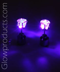 Glowing Pink Earrings! Excellent Valentine's Day Gift! http://glowproducts.com/products/JWEARL