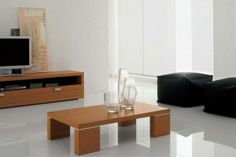 wooden coffee table designs with glass top